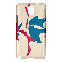 Decorative Amoeba Abstraction Samsung Galaxy Note 3 N9005 Hardshell Case by Valentinaart