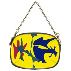 Yellow Amoeba Abstraction Chain Purses (one Side)  by Valentinaart