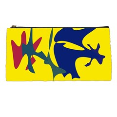 Yellow Amoeba Abstraction Pencil Cases by Valentinaart
