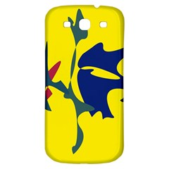 Yellow Amoeba Abstraction Samsung Galaxy S3 S Iii Classic Hardshell Back Case by Valentinaart