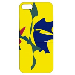 Yellow Amoeba Abstraction Apple Iphone 5 Hardshell Case With Stand by Valentinaart
