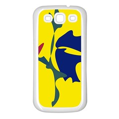 Yellow Amoeba Abstraction Samsung Galaxy S3 Back Case (white) by Valentinaart