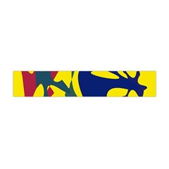 Yellow Amoeba Abstraction Flano Scarf (mini) by Valentinaart