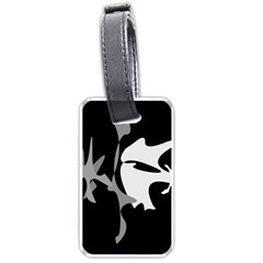 Black And White Amoeba Abstraction Luggage Tags (two Sides) by Valentinaart