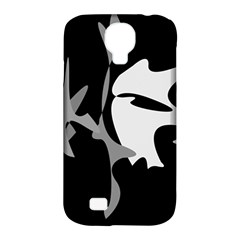 Black And White Amoeba Abstraction Samsung Galaxy S4 Classic Hardshell Case (pc+silicone) by Valentinaart