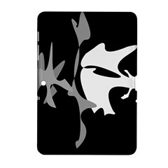 Black And White Amoeba Abstraction Samsung Galaxy Tab 2 (10 1 ) P5100 Hardshell Case  by Valentinaart