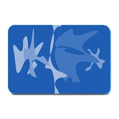 Blue Amoeba Abstraction Plate Mats by Valentinaart
