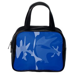 Blue Amoeba Abstraction Classic Handbags (one Side) by Valentinaart