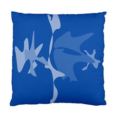 Blue Amoeba Abstraction Standard Cushion Case (one Side) by Valentinaart