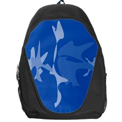 Blue Amoeba Abstraction Backpack Bag by Valentinaart