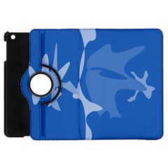 Blue Amoeba Abstraction Apple Ipad Mini Flip 360 Case