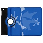 Blue amoeba abstraction Apple iPad Mini Flip 360 Case Front