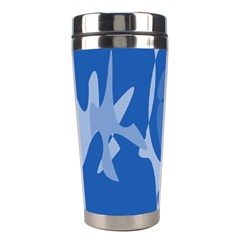 Blue Amoeba Abstraction Stainless Steel Travel Tumblers
