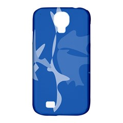 Blue Amoeba Abstraction Samsung Galaxy S4 Classic Hardshell Case (pc+silicone) by Valentinaart