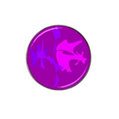 Purple, Pink And Magenta Amoeba Abstraction Hat Clip Ball Marker by Valentinaart