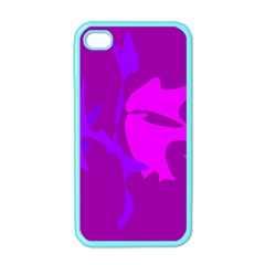 Purple, Pink And Magenta Amoeba Abstraction Apple Iphone 4 Case (color) by Valentinaart