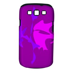 Purple, Pink And Magenta Amoeba Abstraction Samsung Galaxy S Iii Classic Hardshell Case (pc+silicone) by Valentinaart