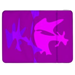 Purple, Pink And Magenta Amoeba Abstraction Samsung Galaxy Tab 7  P1000 Flip Case by Valentinaart