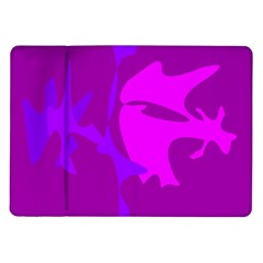 Purple, Pink And Magenta Amoeba Abstraction Samsung Galaxy Tab 10 1  P7500 Flip Case by Valentinaart
