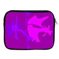 Purple, Pink And Magenta Amoeba Abstraction Apple Ipad 2/3/4 Zipper Cases by Valentinaart