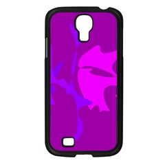Purple, Pink And Magenta Amoeba Abstraction Samsung Galaxy S4 I9500/ I9505 Case (black) by Valentinaart