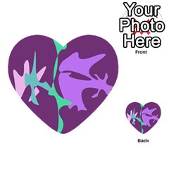 Purple Amoeba Abstraction Multi Purpose Cards (heart)