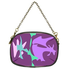 Purple Amoeba Abstraction Chain Purses (two Sides)  by Valentinaart