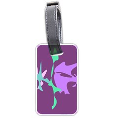 Purple Amoeba Abstraction Luggage Tags (two Sides) by Valentinaart