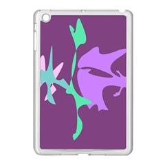 Purple Amoeba Abstraction Apple Ipad Mini Case (white) by Valentinaart