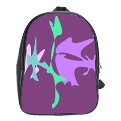 Purple Amoeba Abstraction School Bags (xl)  by Valentinaart
