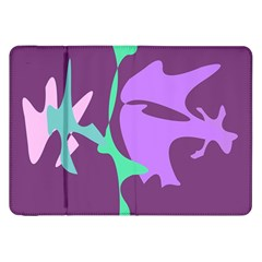 Purple Amoeba Abstraction Samsung Galaxy Tab 8 9  P7300 Flip Case by Valentinaart