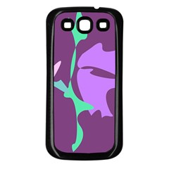 Purple Amoeba Abstraction Samsung Galaxy S3 Back Case (black) by Valentinaart