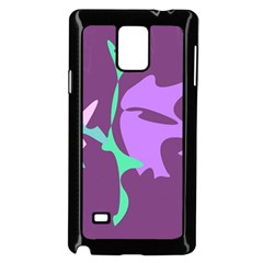 Purple Amoeba Abstraction Samsung Galaxy Note 4 Case (black) by Valentinaart