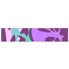 Purple Amoeba Abstraction Flano Scarf (small) by Valentinaart