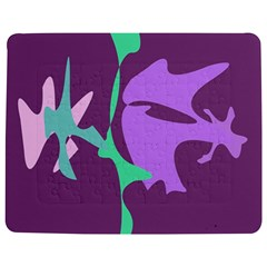 Purple Amoeba Abstraction Jigsaw Puzzle Photo Stand (rectangular) by Valentinaart