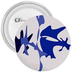 Blue Amoeba Abstract 3  Buttons by Valentinaart