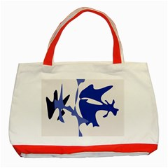 Blue Amoeba Abstract Classic Tote Bag (red)