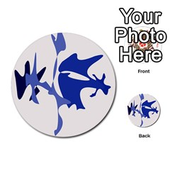 Blue Amoeba Abstract Multi Purpose Cards (round)  by Valentinaart