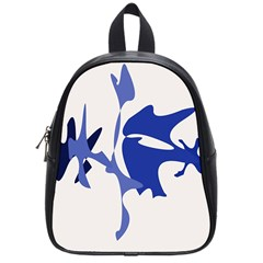 Blue Amoeba Abstract School Bags (small)  by Valentinaart