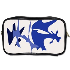 Blue Amoeba Abstract Toiletries Bags 2 Side by Valentinaart
