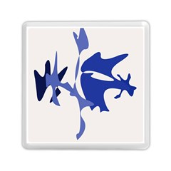 Blue Amoeba Abstract Memory Card Reader (square)  by Valentinaart