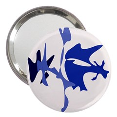 Blue Amoeba Abstract 3  Handbag Mirrors by Valentinaart