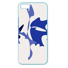 Blue Amoeba Abstract Apple Seamless Iphone 5 Case (color) by Valentinaart