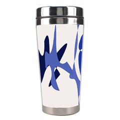 Blue Amoeba Abstract Stainless Steel Travel Tumblers by Valentinaart