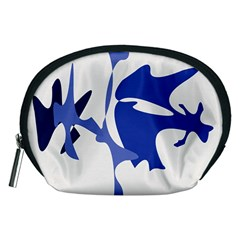 Blue Amoeba Abstract Accessory Pouches (medium)  by Valentinaart