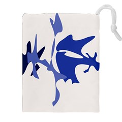 Blue Amoeba Abstract Drawstring Pouches (xxl) by Valentinaart