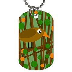 Brown Bird Dog Tag (one Side) by Valentinaart