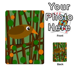 Brown Bird Multi Purpose Cards (rectangle)  by Valentinaart