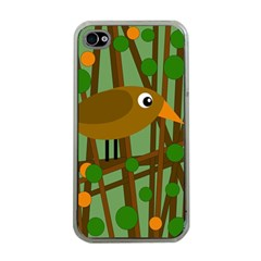 Brown Bird Apple Iphone 4 Case (clear) by Valentinaart