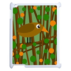 Brown Bird Apple Ipad 2 Case (white) by Valentinaart